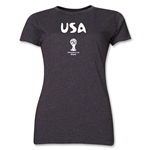 USA 2014 FIFA World Cup Brazil(TM) Women's Core T-Shirt (Dark Grey)