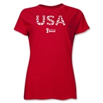 USA 2014 FIFA World Cup Brazil(TM) Women's Elements T-Shirt (Red)