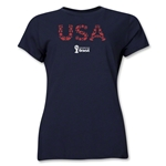USA 2014 FIFA World Cup Brazil(TM) Women's Elements T-Shirt (Navy)