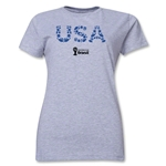 USA 2014 FIFA World Cup Brazil(TM) Women's Elements T-Shirt (Grey)