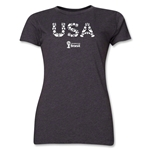 USA 2014 FIFA World Cup Brazil(TM) Women's Elements T-Shirt (Dark Grey)