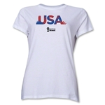 USA 2014 FIFA World Cup Brazil(TM) Women's Palm T-Shirt (White)