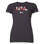 USA 2014 FIFA World Cup Brazil(TM) Women's Palm T-Shirt (Dark Grey)