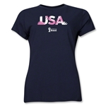 USA 2014 FIFA World Cup Brazil(TM) Women's Palm T-Shirt (Navy)