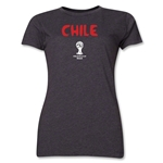 Chile 2014 FIFA World Cup Brazil(TM) Women's Core T-Shirt (Dark Grey)