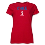 Chile 2014 FIFA World Cup Brazil(TM) Women's Core T-Shirt (Red)