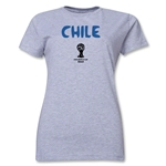 Chile 2014 FIFA World Cup Brazil(TM) Women's Core T-Shirt (Grey)