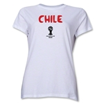 Chile 2014 FIFA World Cup Brazil(TM) Women's Core T-Shirt (White)