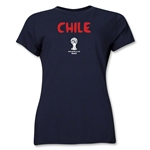 Chile 2014 FIFA World Cup Brazil(TM) Women's Core T-Shirt (Navy)
