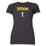 Spain 2014 FIFA World Cup Brazil(TM) Women's Core T-Shirt (Dark Grey)