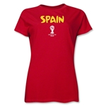 Spain 2014 FIFA World Cup Brazil(TM) Women's Core T-Shirt (Red)