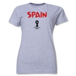 Spain 2014 FIFA World Cup Brazil(TM) Women's Core T-Shirt (Grey)