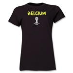 Belgium 2014 FIFA World Cup Brazil(TM) Women's Core T-Shirt (Black)