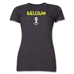 Belgium 2014 FIFA World Cup Brazil(TM) Women's Core T-Shirt (Dark Grey)