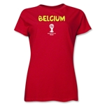 Belgium 2014 FIFA World Cup Brazil(TM) Women's Core T-Shirt (Red)