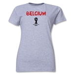 Belgium 2014 FIFA World Cup Brazil(TM) Women's Core T-Shirt (Grey)