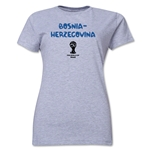 Bosnia-Herzegovina 2014 FIFA World Cup Brazil(TM) Women's Core T-Shirt (Grey)