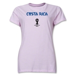 Costa Rica 2014 FIFA World Cup Brazil(TM) Women's Core T-Shirt (Pink)