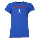 Costa Rica 2014 FIFA World Cup Brazil(TM) Women's Core T-Shirt (Royal)