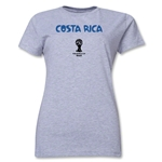 Costa Rica 2014 FIFA World Cup Brazil(TM) Women's Core T-Shirt (Grey)