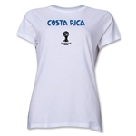 Costa Rica 2014 FIFA World Cup Brazil(TM) Women's Core T-Shirt (White)