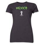Mexico 2014 FIFA World Cup Brazil(TM) Women's Core T-Shirt (Dark Gray)