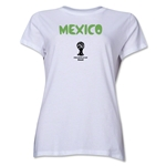 Mexico 2014 FIFA World Cup Brazil(TM) Women's Core T-Shirt (White)