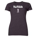 Russia 2014 FIFA World Cup Brazil(TM) Women's Core T-Shirt (Dark Grey)