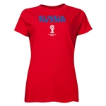 Russia 2014 FIFA World Cup Brazil(TM) Women's Core T-Shirt (Red)