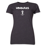 Honduras 2014 FIFA World Cup Brazil(TM) Women's Core T-Shirt (Dark Grey)