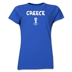 Greece 2014 FIFA World Cup Brazil(TM) Women's Core T-Shirt (Royal)