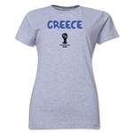 Greece 2014 FIFA World Cup Brazil(TM) Women's Core T-Shirt (Grey)