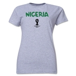Nigeria 2014 FIFA World Cup Brazil(TM) Women's Core T-Shirt (Grey)