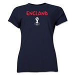 England 2014 FIFA World Cup Brazil(TM) Women's Core T-Shirt (Navy)