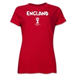 England 2014 FIFA World Cup Brazil(TM) Women's Core T-Shirt (Red)