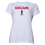 England 2014 FIFA World Cup Brazil(TM) Women's Core T-Shirt (White)