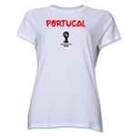 Portugal 2014 FIFA World Cup Brazil(TM) Women's Core T-Shirt (White)