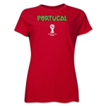 Portugal 2014 FIFA World Cup Brazil(TM) Women's Core T-Shirt (Red)