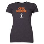 Cote d'Ivoire 2014 FIFA World Cup Brazil(TM) Women's Core T-Shirt (Dark Grey)