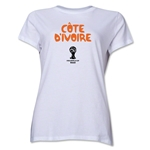 Cote d'Ivoire 2014 FIFA World Cup Brazil(TM) Women's Core T-Shirt (White)