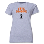 Cote d'Ivoire 2014 FIFA World Cup Brazil(TM) Women's Core T-Shirt (Grey)