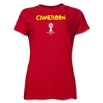 Cameroon 2014 FIFA World Cup Brazil(TM) Women's Core T-Shirt (Red)