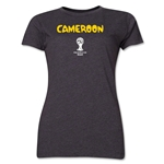 Cameroon 2014 FIFA World Cup Brazil(TM) Women's Core T-Shirt (Dark Grey)