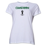 Cameroon 2014 FIFA World Cup Brazil(TM) Women's Core T-Shirt (White)