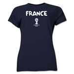 France 2014 FIFA World Cup Brazil(TM) Women's Core T-Shirt (Navy)