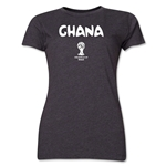 Ghana 2014 FIFA World Cup Brazil(TM) Women's Core T-Shirt (Dark Grey)