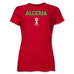 Algeria 2014 FIFA World Cup Brazil(TM) Women's Core T-Shirt (Red)