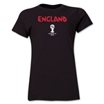 England 2014 FIFA World Cup Brazil(TM) Women's Core T-Shirt (Black)