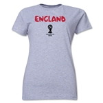 England 2014 FIFA World Cup Brazil(TM) Women's Core T-Shirt (Grey)