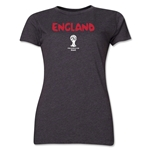 England 2014 FIFA World Cup Brazil(TM) Women's Core T-Shirt (Dark Grey)